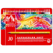 Caran d'Ache Supracolor Water Soluble Pencils Assorted Tin of 30