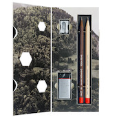 Caran d'Ache Swiss Wood 348 Gift Set with 2 Pencils
