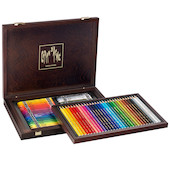 Caran d'Ache Prismalo and Neocolor II Wooden Box of 30 + 40