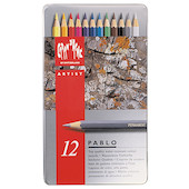 Caran d'Ache Pablo Artists Permanent Colour Pencil Assorted Tin of 12