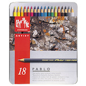 Caran d'Ache Pablo Artists Permanent Colour Pencil Assorted Tin of 18