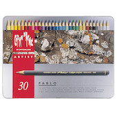 Caran d'Ache Pablo Artists Permanent Colour Pencil Assorted Tin of 30