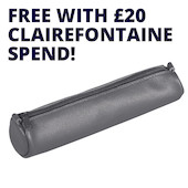 Clairefontaine Age Bag Small Round Leather Pencil Case Promotion