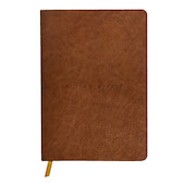 Clairefontaine Flying Spirit Leather Notebook A5 Cognac