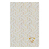Clairefontaine Neo Deco Sewn Spine Notebook 90x140 Pearl Grey