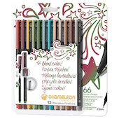 Chameleon Fineliner Set of 12 Assorted Designer