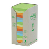 Post-it Recycled Notes Tower Pastel Rainbow Set of 16