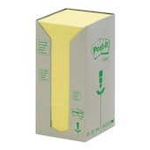 Post-it Recycled Notes Tower Canary Yellow Set of 16