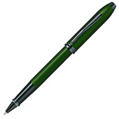 Cross Townsend Rollerball Pen Green Micro Knurl