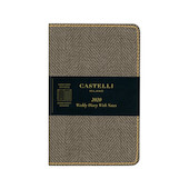 Castelli Harris Pocket Diary 2020 Tobacco Brown