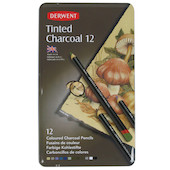 Derwent Tinted Charcoal 12 Piece Tin