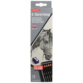 Derwent Sketching Graphite Pencil Tin of 6