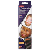 Derwent Coloursoft Coloured Pencil Skintones Tin of 6