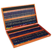Derwent Inktense Coloured Pencils Wooden Box of 72