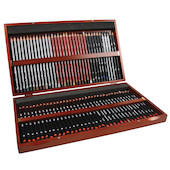 Derwent Sketching Pencil Wooden Box of 72