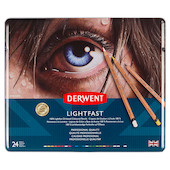 Derwent Lightfast Coloured Pencils Tin of 24