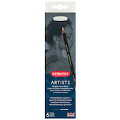 Derwent Artists Coloured Pencils Black and White Tin of 6