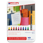 edding 1200 Colourpen Tin of 10 Assorted