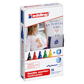edding 4500 T-Shirt Marker 5 Assorted