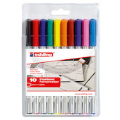 edding 89 Fineliner Pen Assorted Set of 10