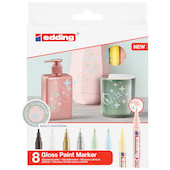 edding 751 Paint Marker Pen Pastel Assorted Set of 8