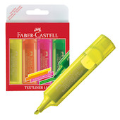 Faber-Castell Textliner 1546 Superfluorescent Assorted Set of 4