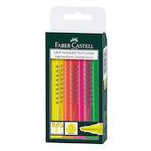 Faber-Castell Grip Textliner Highlighter Pen Wallet of 4