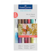 Faber-Castell Gelatos Colour Crayon Metallics Set of 12 + Accessories