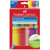 Faber-Castell Colour Grip Pencils Box of 36