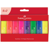 Faber-Castell Textliner 1546 Superfluorescent Cardboard Wallet of 8