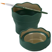 Faber-Castell Clic & Go Collapsible Watercup Dark Green Promotion