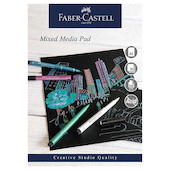 Faber-Castell Creative Studio Mixed Media Pad Black Paper A5
