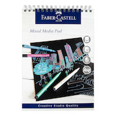 Faber-Castell Mixed Media Pad Black Paper A4 Promotion
