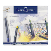 Faber-Castell Goldfaber Colour Pencils Tin of 48