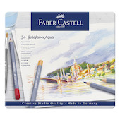 Faber-Castell Goldfaber Aqua Watercolour Pencils Tin of 24