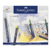 Faber-Castell Goldfaber Colour Pencils Tin of 24
