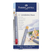 Faber-Castell Goldfaber Aqua Watercolour Pencils Tin of 12