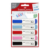 Faber-Castell Textile Marker Assorted Set of 5 Baby