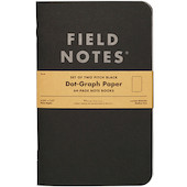 Field Notes Pitch Black Note Book Set of 2