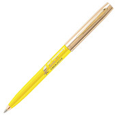 Fisher Space Pen Cap-O-Matic Apollo 11 50th Anniversary Pressurised Ballpoint Pen Yellow and Gold