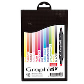 Graph'it Twin Tip Marker Pen Set of 12