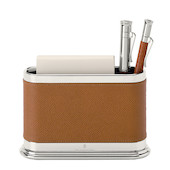 Graf von Faber-Castell Leather Notelet Box with Pen Holder