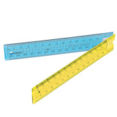 Helix Oxford Clash Folding Ruler Blue