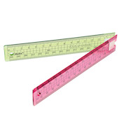 Helix Oxford Clash Folding Ruler Pink