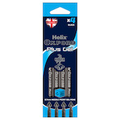 Helix Oxford Plus Gel Pen Set of 4 Black
