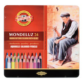 Koh-I-Noor Mondeluz Watercolour Pencils Tin of 24