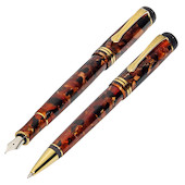Kaweco Dia 2 Fountain Pen and Ballpoint Set Amber Limited Edition