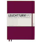 Leuchtturm1917 Hardcover Notebook Master Slim Port Red