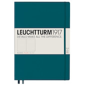 Leuchtturm1917 Hardcover Notebook Master Slim Pacific Green