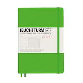 Leuchtturm1917 Diary Weekly Planner and Notebook 2020 Medium Fresh Green